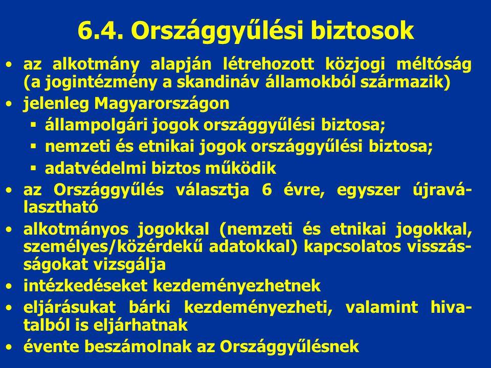 6.4. Országgyűlési biztosok