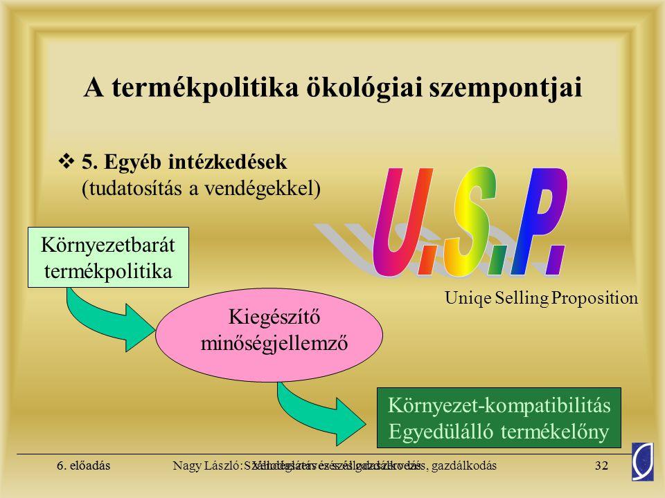 A termékpolitika ökológiai szempontjai