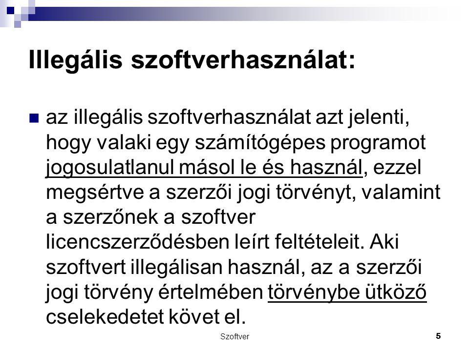 Illegális szoftverhasználat: