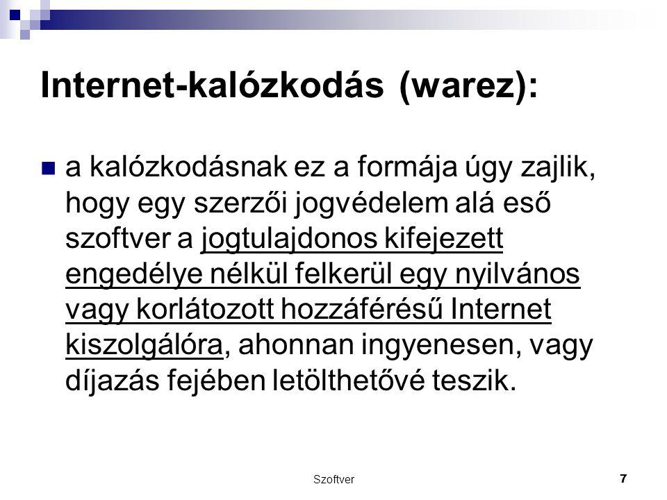 Internet-kalózkodás (warez):