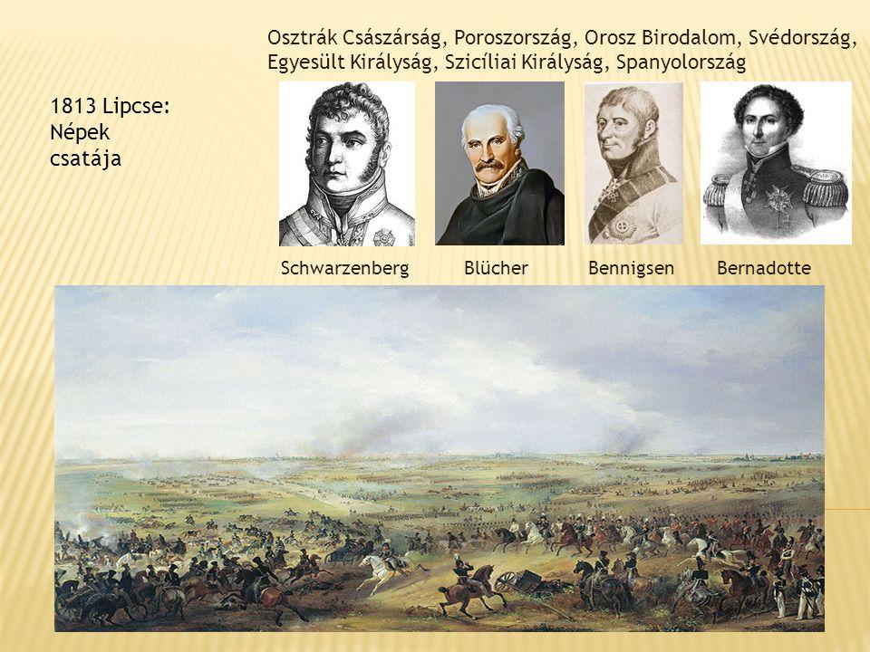 Osztrák Császárság, Poroszország, Orosz Birodalom, Svédország, Egyesült Királyság, Szicíliai Királyság, Spanyolország