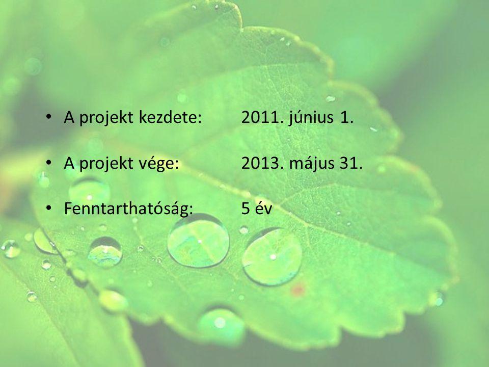 A projekt kezdete: 2011. június 1.