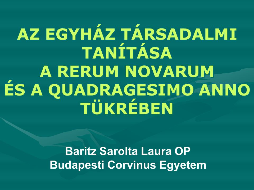Baritz Sarolta Laura OP Budapesti Corvinus Egyetem