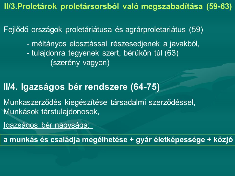II/4. Igazságos bér rendszere (64-75)