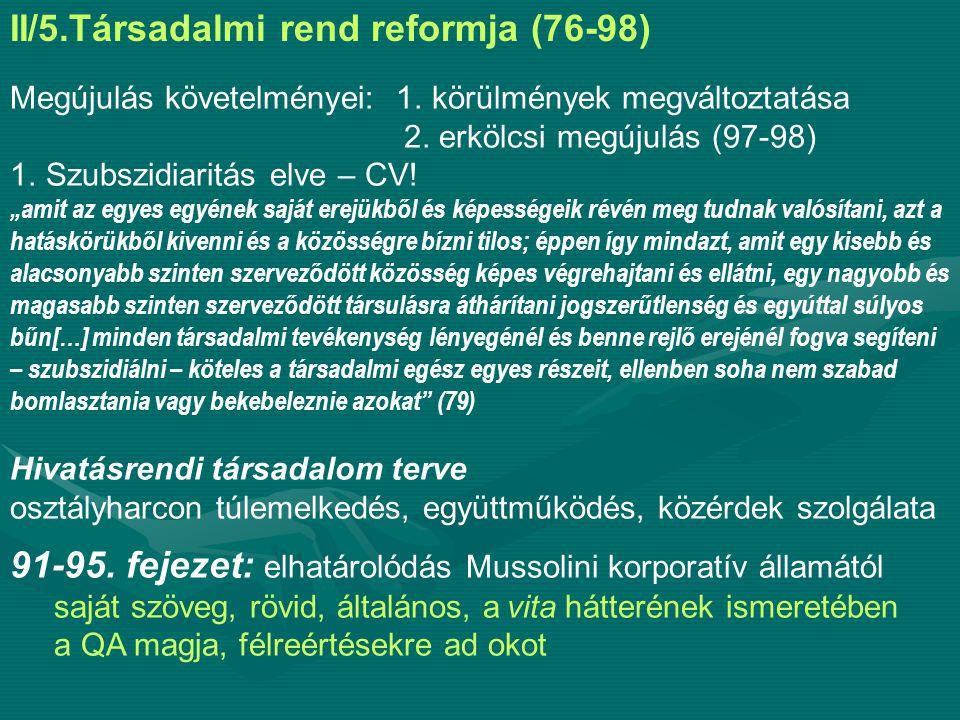 II/5.Társadalmi rend reformja (76-98)
