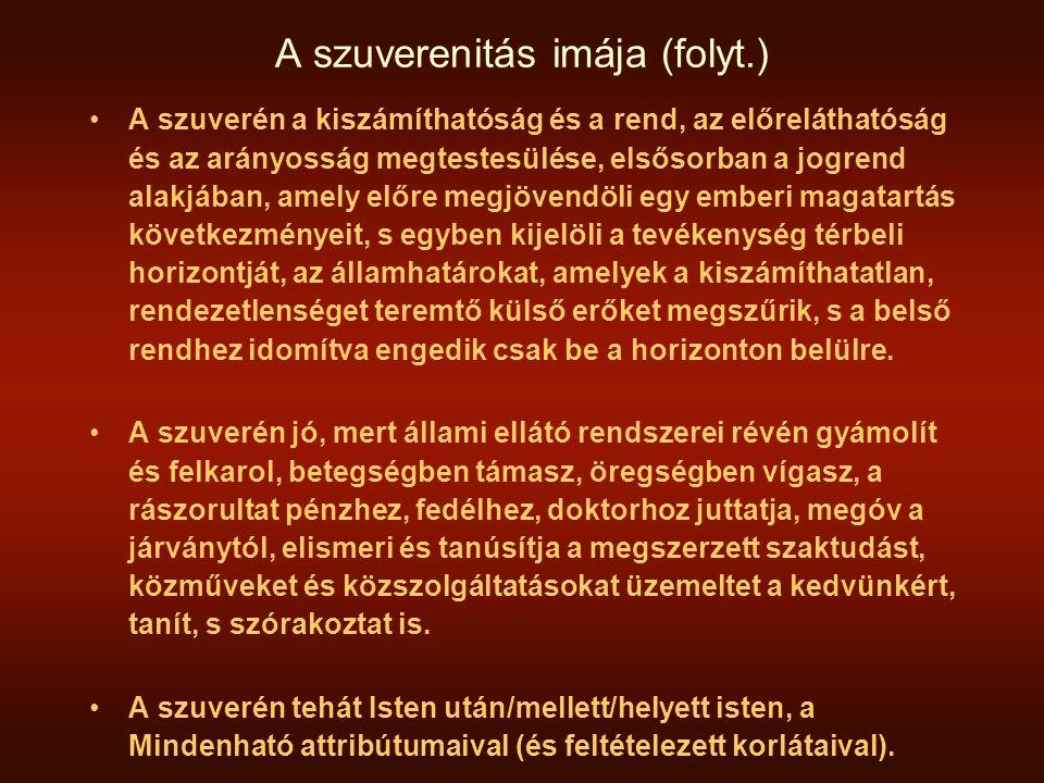 A szuverenitás imája (folyt.)