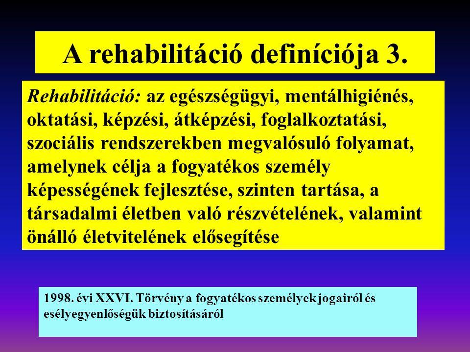 A rehabilitáció definíciója 3.