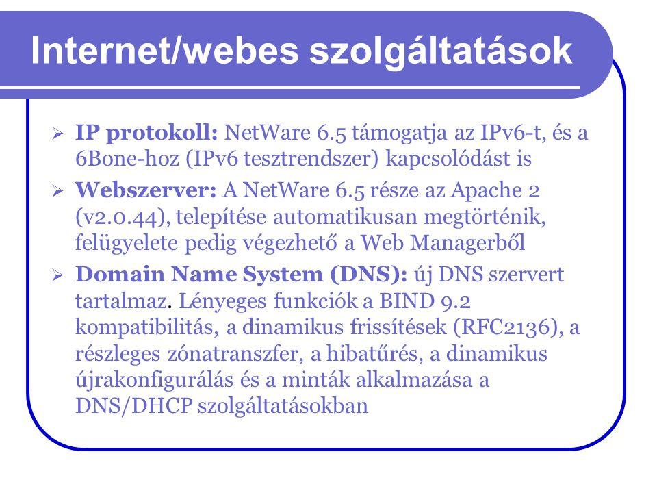 Internet/webes szolgáltatások