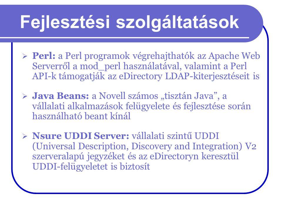 Fejlesztési szolgáltatások