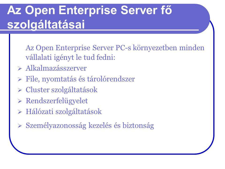 Az Open Enterprise Server fő szolgáltatásai