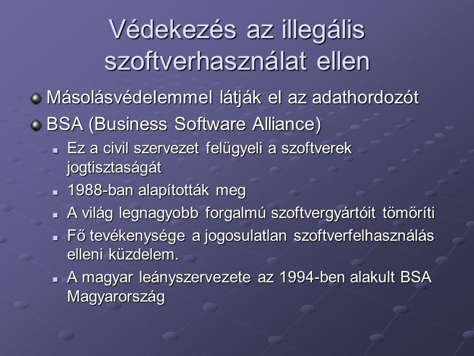 Védekezés az illegális szoftverhasználat ellen