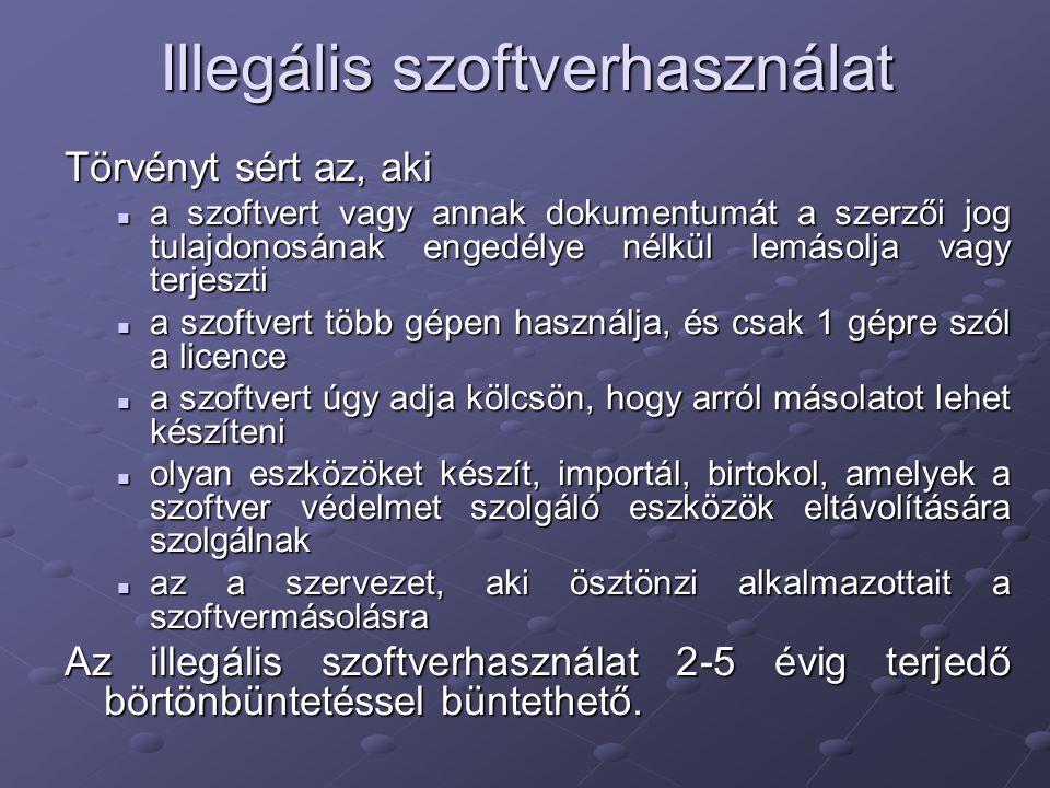 Illegális szoftverhasználat