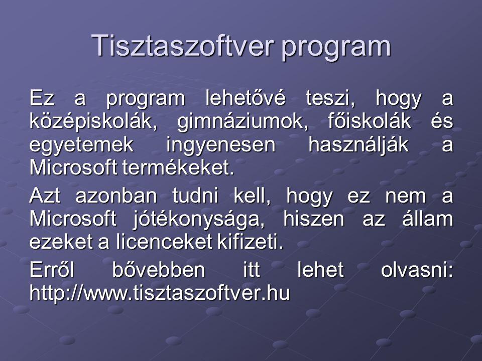 Tisztaszoftver program