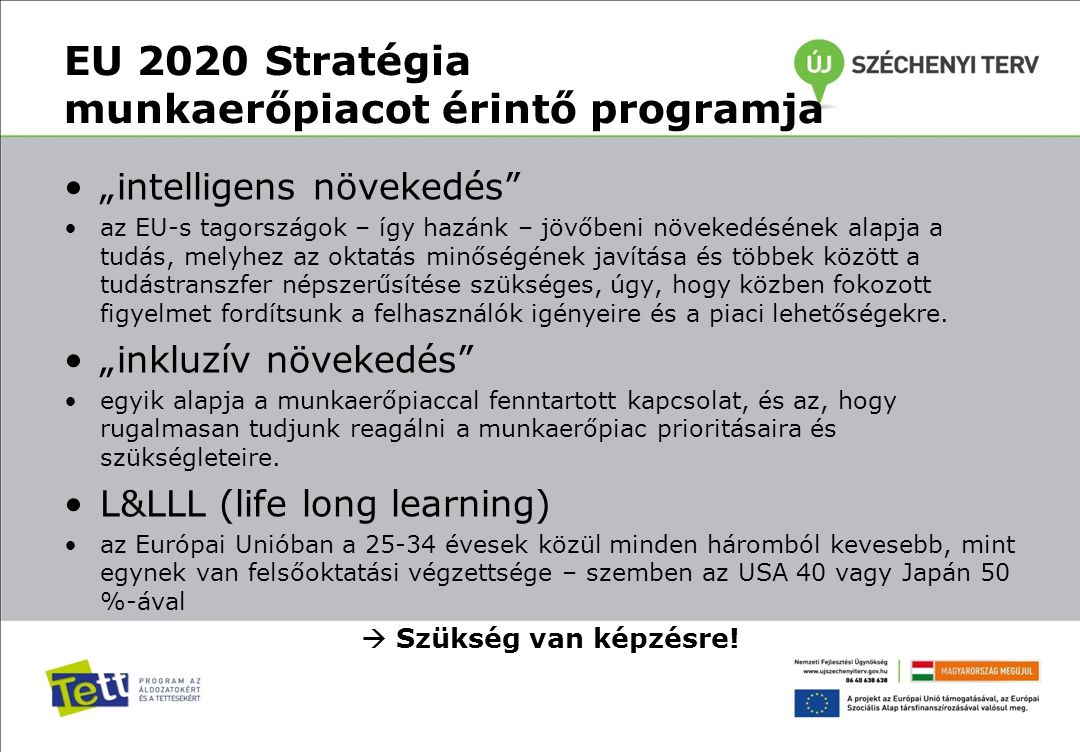 EU 2020 Stratégia munkaerőpiacot érintő programja