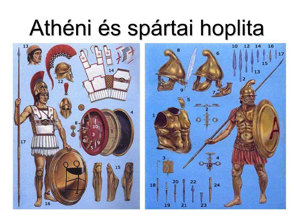Athéni és spártai hoplita