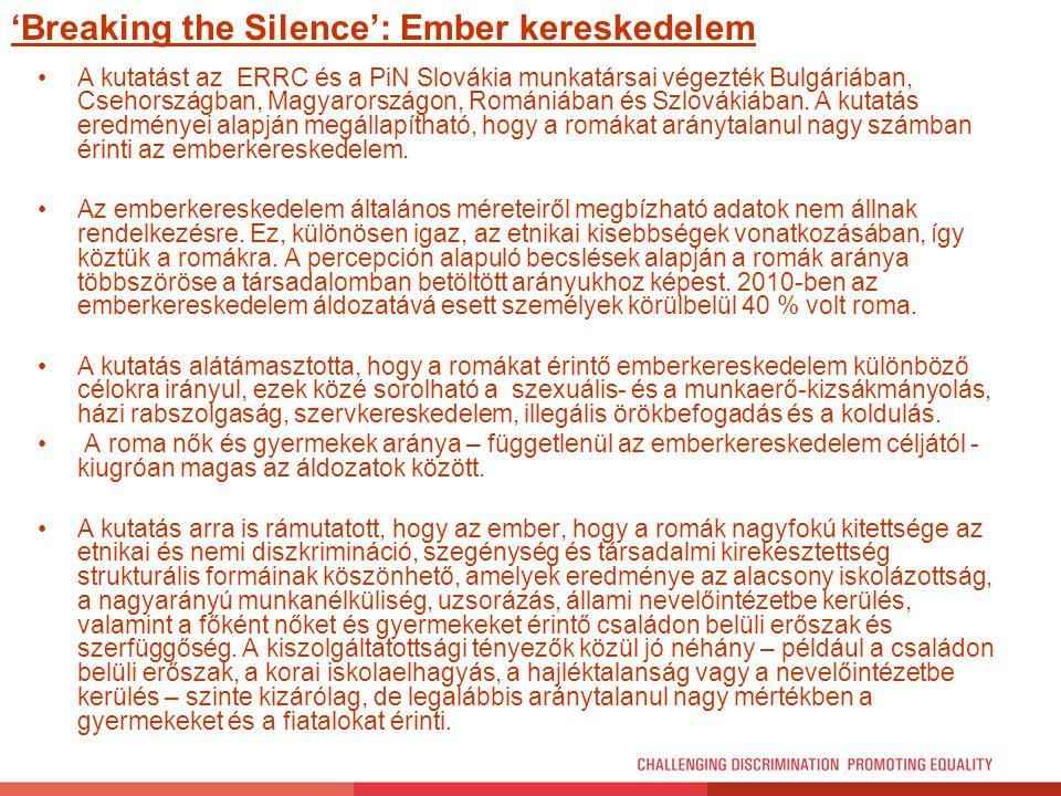 'Breaking the Silence': Ember kereskedelem
