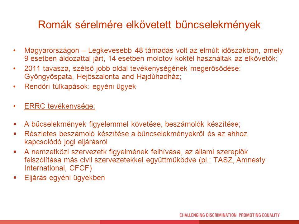 Romák sérelmére elkövetett bűncselekmények