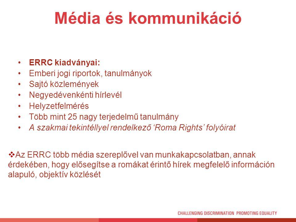 Média és kommunikáció ERRC kiadványai:
