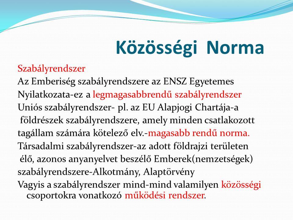 Közösségi Norma
