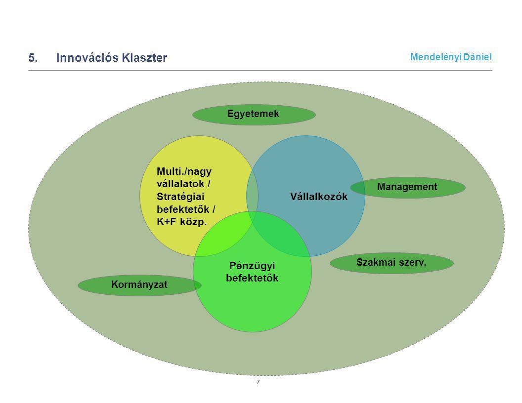 5. Innovációs Klaszter Multi./nagy vállalatok / Stratégiai