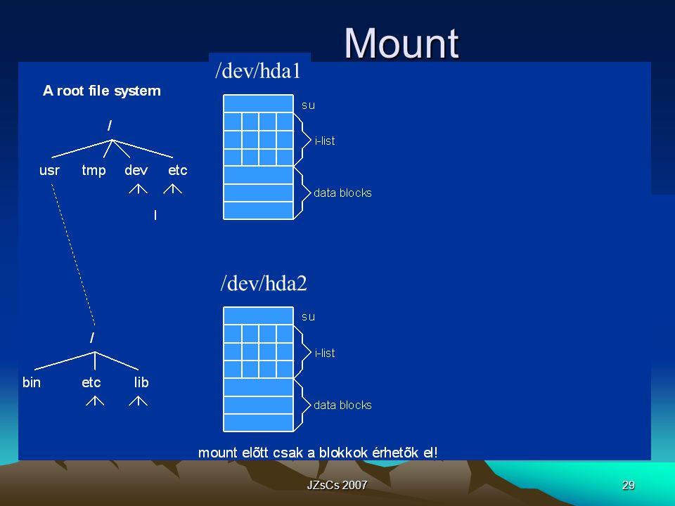Mount /dev/hda1 /dev/hda2 JZsCs 2007