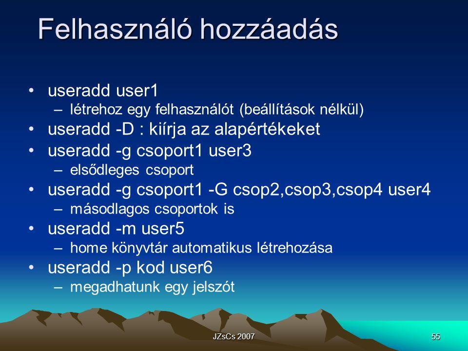 Felhasználó hozzáadás