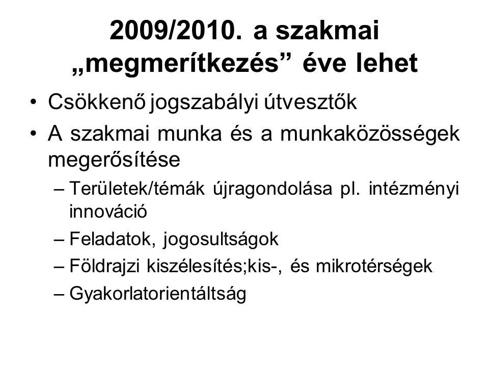 """2009/2010. a szakmai """"megmerítkezés éve lehet"""