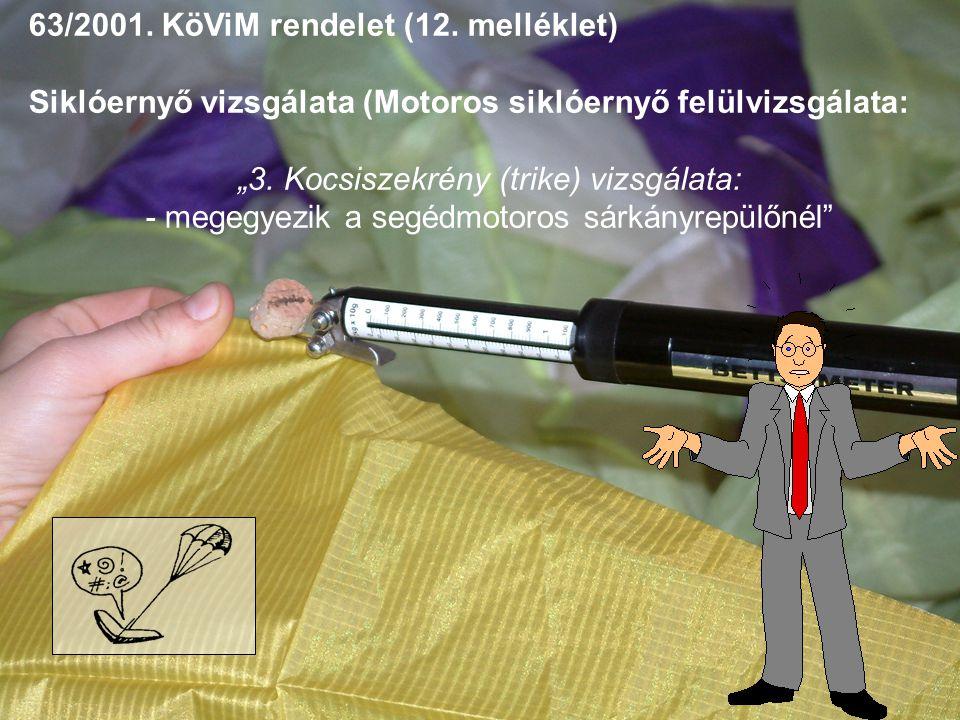 63/2001. KöViM rendelet (12. melléklet)