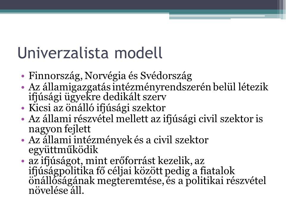 Univerzalista modell Finnország, Norvégia és Svédország