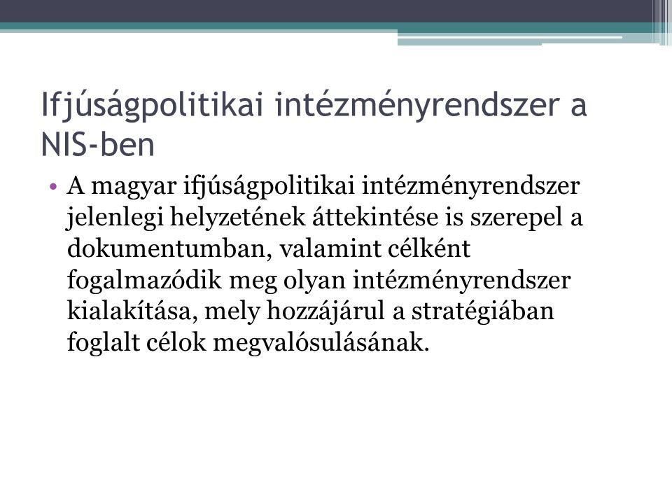 Ifjúságpolitikai intézményrendszer a NIS-ben