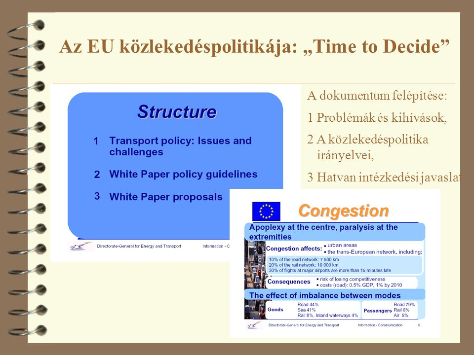 """Az EU közlekedéspolitikája: """"Time to Decide"""