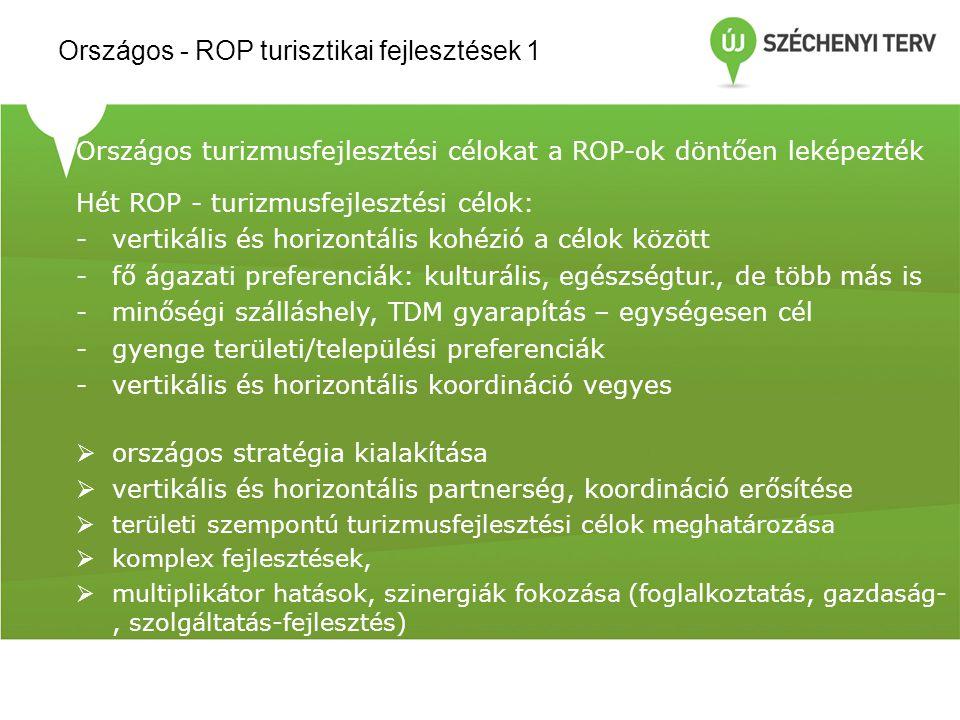 Országos - ROP turisztikai fejlesztések 1