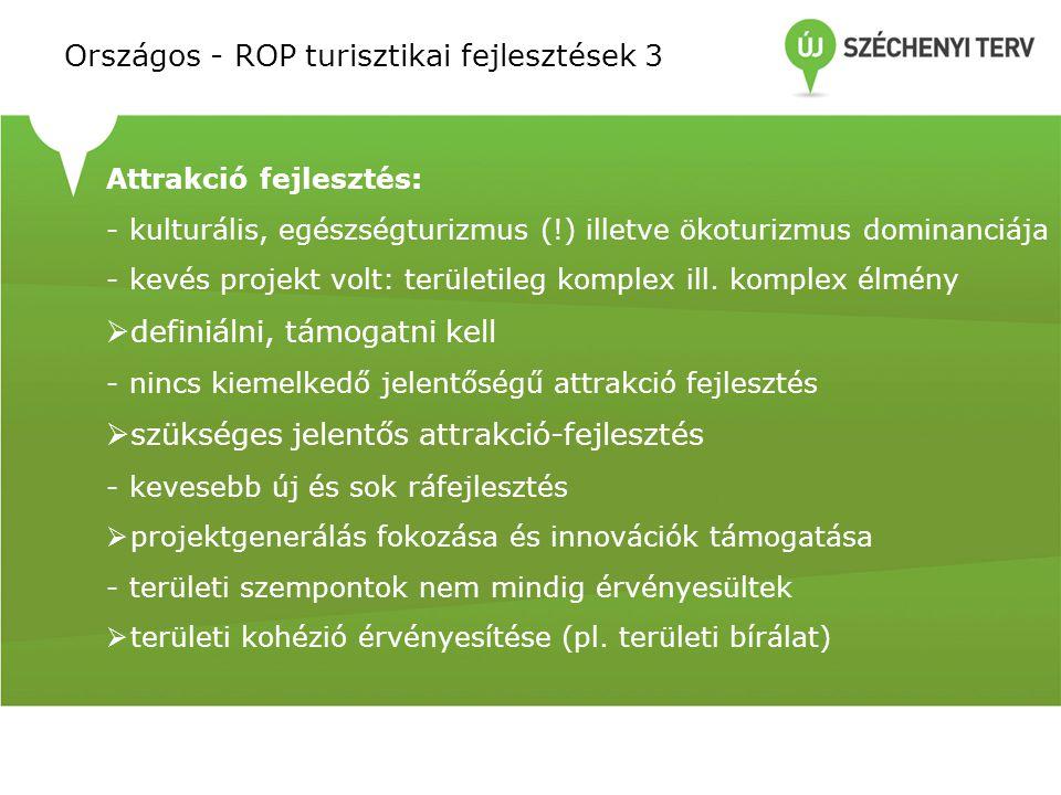 Országos - ROP turisztikai fejlesztések 3