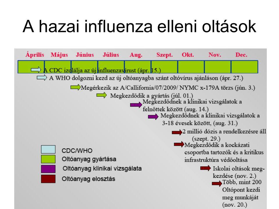 A hazai influenza elleni oltások