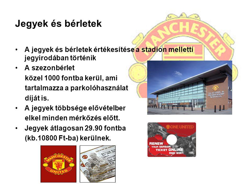 Jegyek és bérletek A jegyek és bérletek értékesítése a stadion melletti jegyirodában történik. A szezonbérlet.