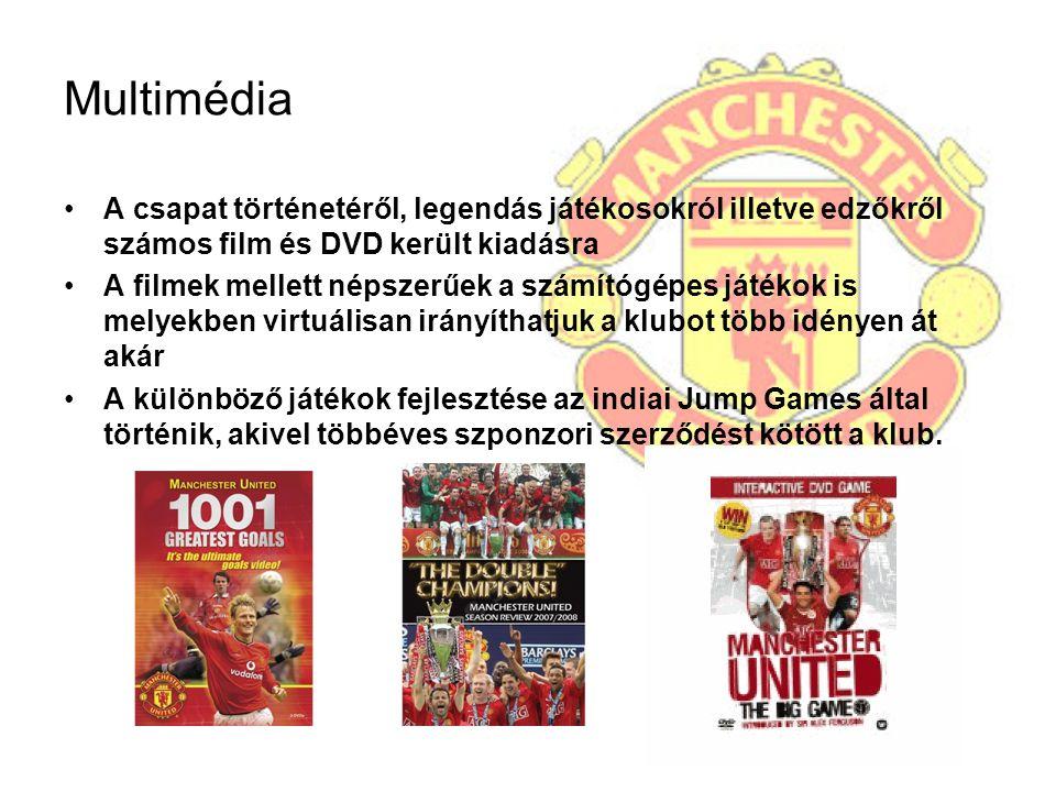 Multimédia A csapat történetéről, legendás játékosokról illetve edzőkről számos film és DVD került kiadásra.