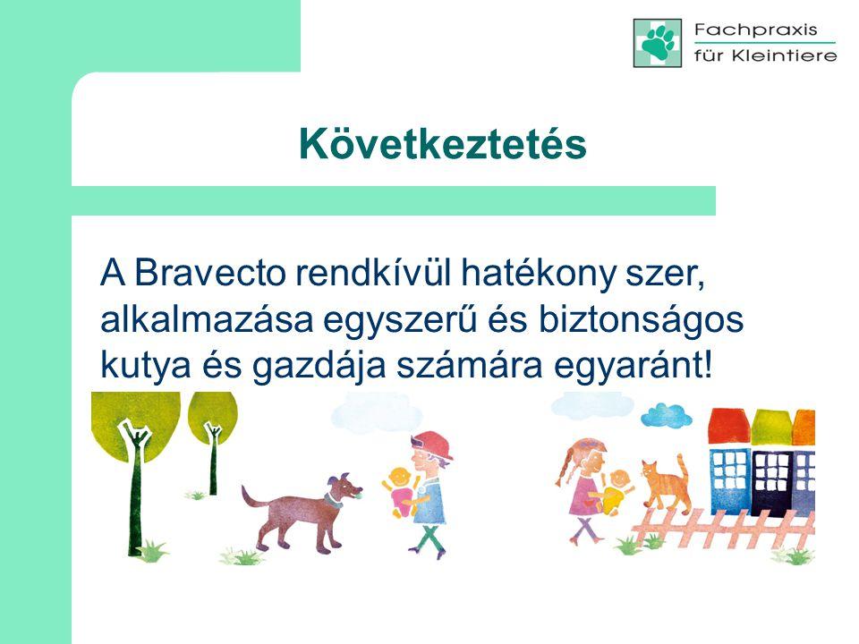 Következtetés A Bravecto rendkívül hatékony szer, alkalmazása egyszerű és biztonságos kutya és gazdája számára egyaránt!