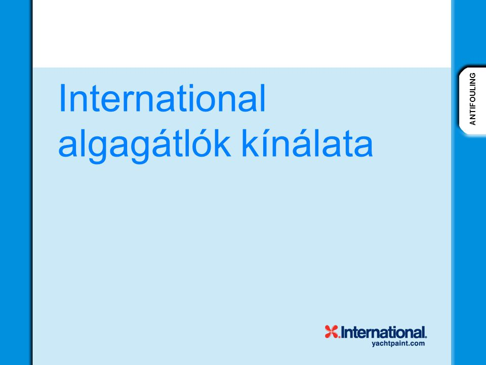 International algagátlók kínálata
