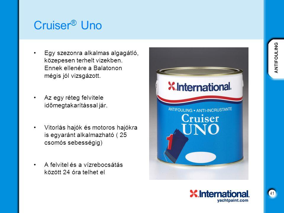 Cruiser® Uno Egy szezonra alkalmas algagátló, közepesen terhelt vizekben. Ennek ellenére a Balatonon mégis jól vizsgázott.