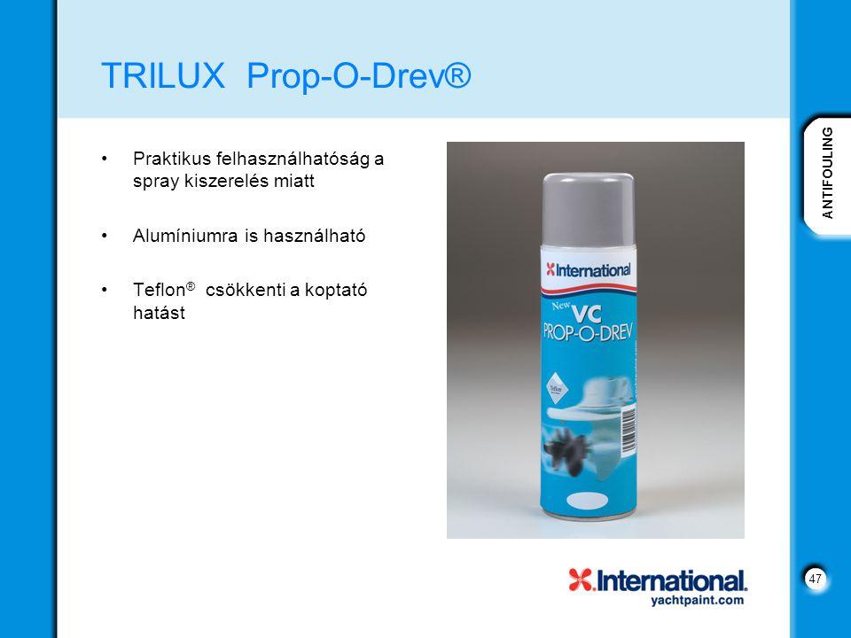 TRILUX Prop-O-Drev® Praktikus felhasználhatóság a spray kiszerelés miatt. Alumíniumra is használható.