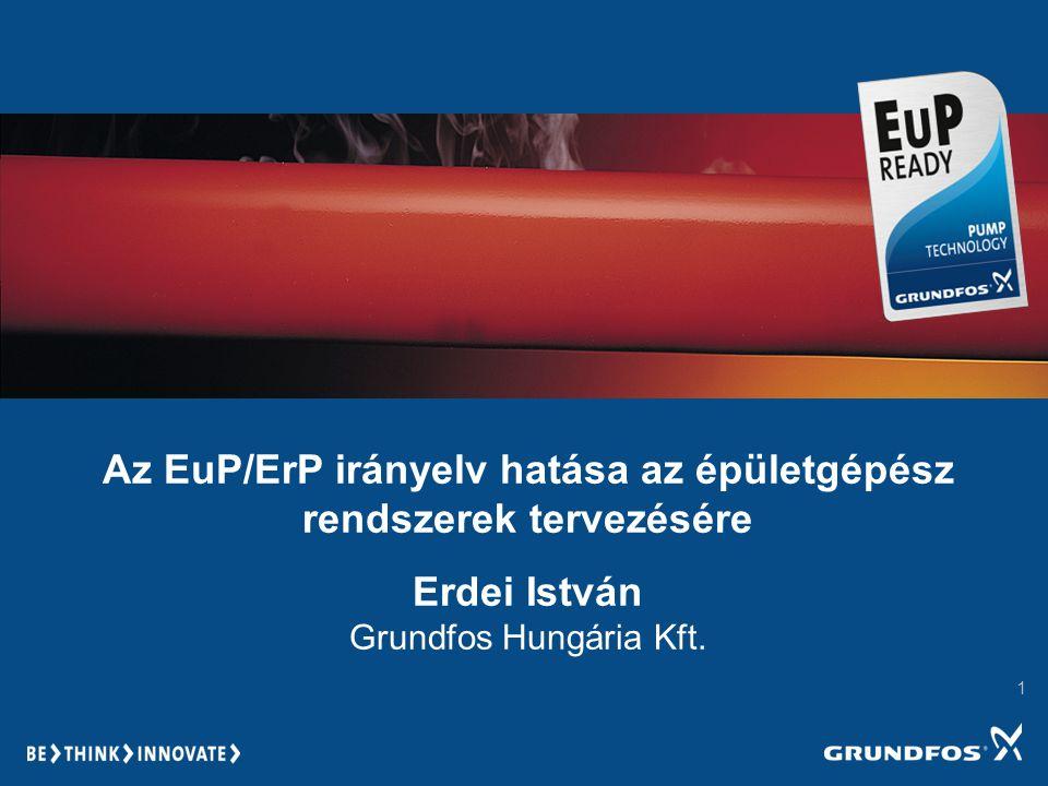 Az EuP/ErP irányelv hatása az épületgépész rendszerek tervezésére