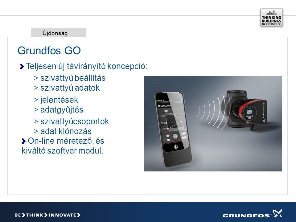 Grundfos GO Teljesen új távirányító koncepció: