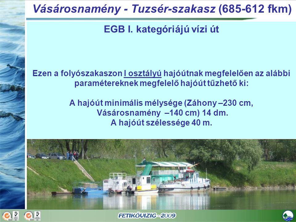 Vásárosnamény - Tuzsér-szakasz (685-612 fkm)