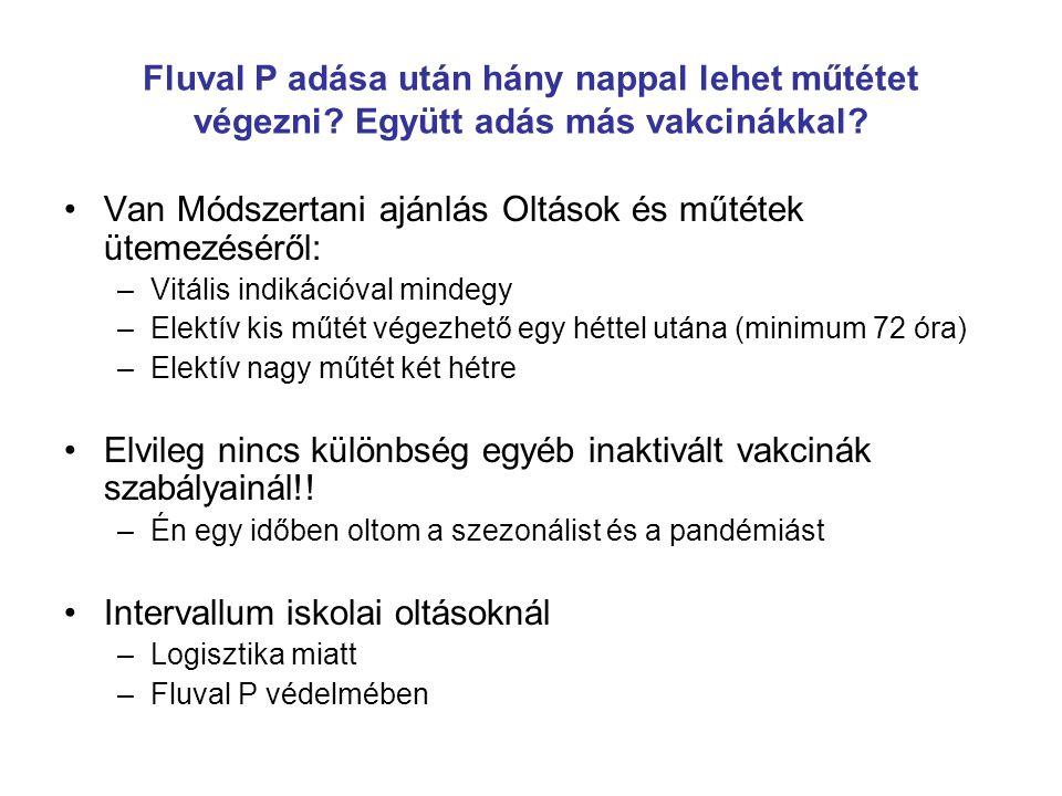 Van Módszertani ajánlás Oltások és műtétek ütemezéséről: