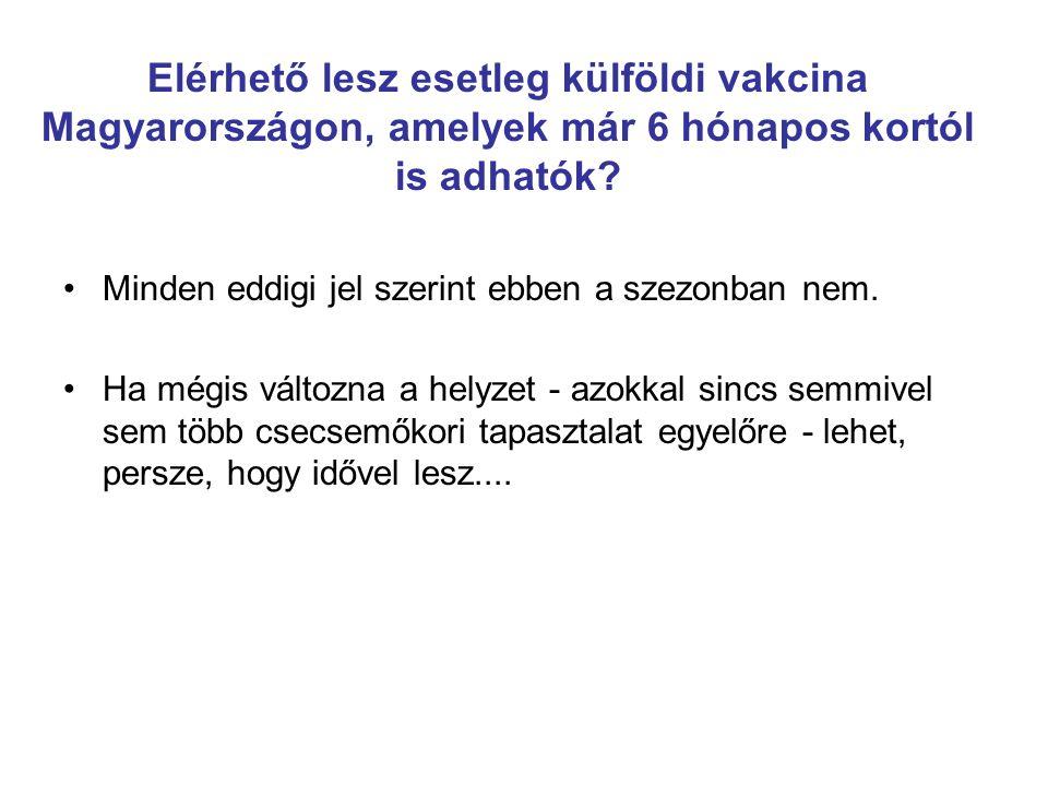 Elérhető lesz esetleg külföldi vakcina Magyarországon, amelyek már 6 hónapos kortól is adhatók