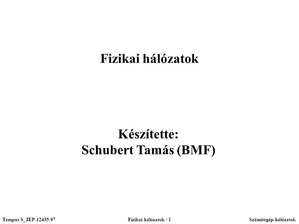 Fizikai hálózatok Készítette: Schubert Tamás (BMF)