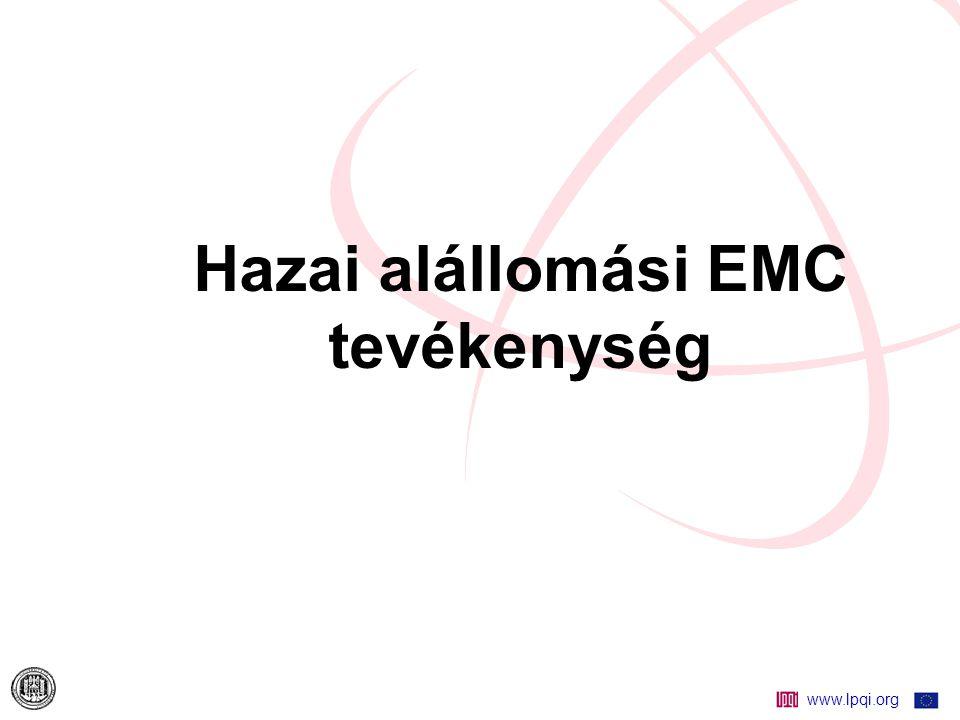 Hazai alállomási EMC tevékenység