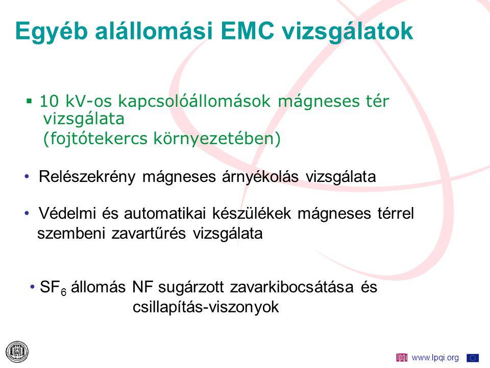 Egyéb alállomási EMC vizsgálatok