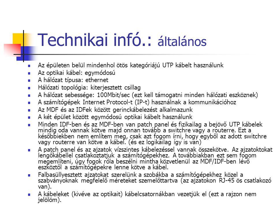 Technikai infó.: általános
