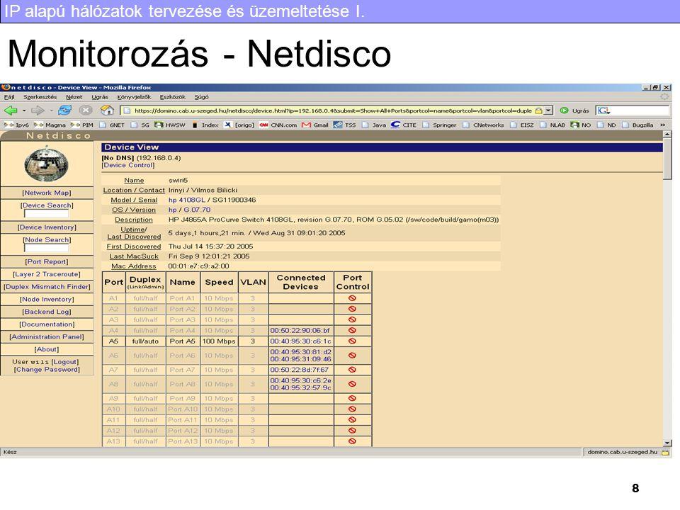 Monitorozás - Netdisco